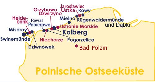 Ferienorte und Kurorte an der Ostsee in Polen