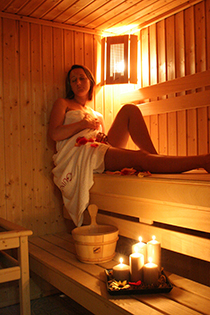 In der Sauna des Hotels Millennium