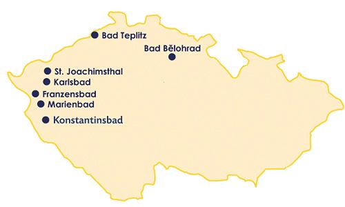 Karte Kurorte Tschechien
