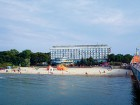 Ideal am Ostseestrand gelegen: das Hotel Baltyk im Kolberger Kurviertel