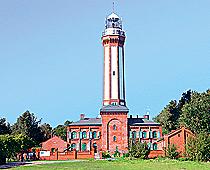 Leuchtturm von Niechorze dem früheren Horst-Seebad