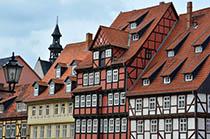 Alte deutsche Häuser (Quedlinburg, Deutschland)