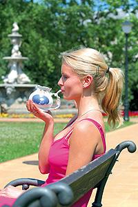 Trinkkur im Kurpark von Bad Teplice