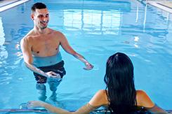 Im Schwimmbad des Park Hotels Bad Flinsberg
