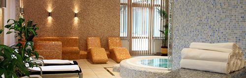 Blick in den Wellnessbereich des Hotels Diamant