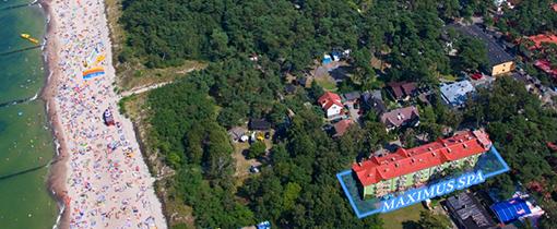 Luftbild Lage des Hauses Maximus Spa