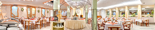 Speiseraum im Hotel Perelka