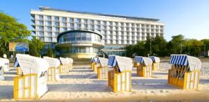 Hotel Bałtyk direkt am Strand von Kolberg Kołobrzeg