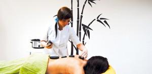 Hot-stone-Massage im Kurhaus San