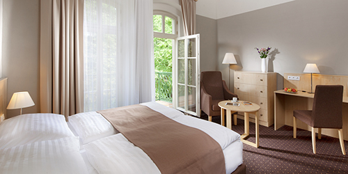 Renoviertes Zimmer im Spa-Hotel Prag Franzensbad