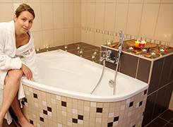 Badezimmer im Hotel Royal Marienbad
