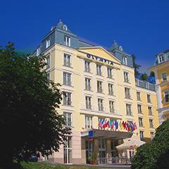 Außenansicht des Marienbader Spa-und-Wellness-Hotels Olympia