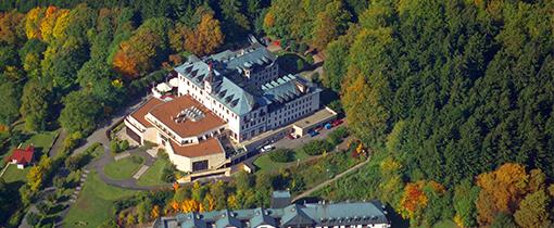 Château Monty Spa Resort aus der Vogelperspektive