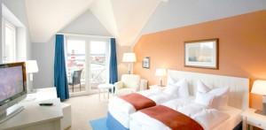 Blick in ein Zimmer des Rheinsberger Maritim Hafenhotels
