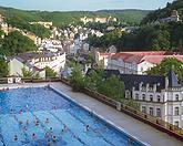 Freibad Thermalschwimmbecken Karlsbad