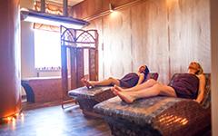 Wärmeliegen im Saunarium des Hauses 2 Hotel Olymp Kolberg