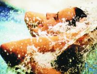 Frau im Wasser von Zalakaros