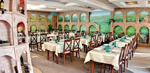Speisessal der Villa Martini in Misdroy