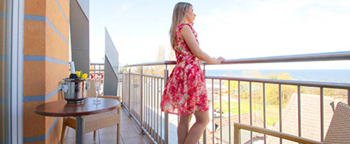 Meerblick vom Balkon aus