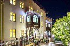 Geschmücktes Hotel Berliner in Bad Flinsberg