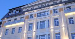 Abendliches Kur & Spa Hotel Harvey in Franzuensbad