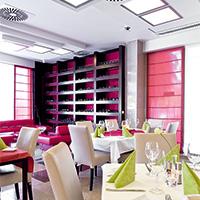 Gedeckter Tisch im Restaurant des Hoteks