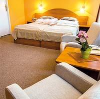 Blick in ein Doppelzimmer Hotel Monti-Spa