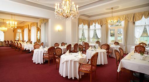 Speisesaal im Franzensbader Hotel Imperial