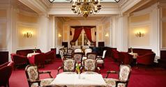 Blick ins Café des Hotels Pawlik