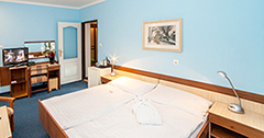 Wohnbeispiel Zimmer mit hellblauer Wand