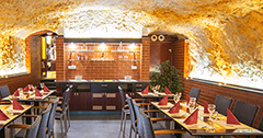 Rustikales Restaurant im Hotel Krivan Karlsbad