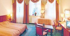 Blick in ein Zimmer des Kurhotels Maxymilian