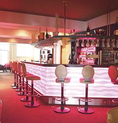 Blick zur Bar Strandhotel Seerose