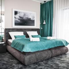 Doppelbett im Hotel Max