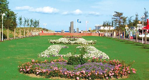 Kurpark Ostseebad Baabe nahe dem Strandhotel