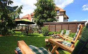Vitalhotel Bad Harzburg vom Garten aus gesehen