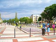 Promenade im neuen Kur-Viertel von Swinemünde
