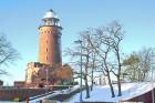 Winterbild Leuchtturm in Kolberg