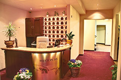 Rezeption im Hotel Villa Martini Misdroy