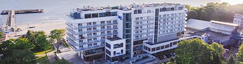 Haus 1 des Hotels Baltyk am Ostseestrand