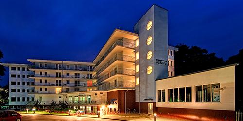 Abendliches Spa-Zentrum Baginski & Chabinka