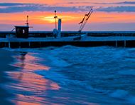 Abendrot an der Ostsee