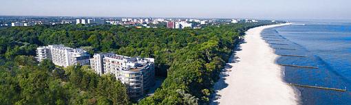 Lage des Diune-Hotel-Komplexes nahe der Ostsee