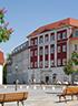 Marktplatz Bad Muskau mit Kulturhotel Fürst Pückler