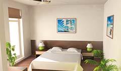 Doppelbett Zimmer im Hotel MariSol Swinemünde