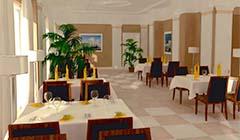 Speiseraum im Hotel MariSol
