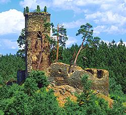 Festung Gutstejn bei Konstantinovy Lazne