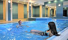 Schwimmbecken im Haus 1 des Hotels Kaisers Garten