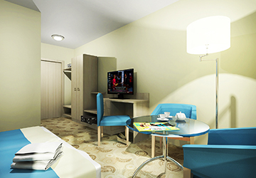 Helle hochmoderen Zimmer im Hotel Kaisers Garten 2