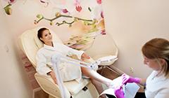 Fußüflege in der Beauty-Abteilung